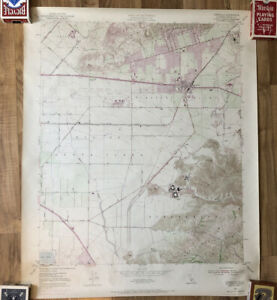 Vtg US Geological Survey Map- Camarillo Quadrangle- 1950 (revised 1967)- CA