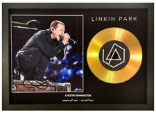 More details for chester bennington - linkin park signed gold disc collectable memorabilia gift 2