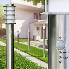 Wegeleuchte mit Bewegungsmelder Hof Lampe Garten Außen Standlampe Edelstahl IP44