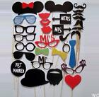 WOAU 31PCS DIY Mask Photo Booth Props Mustache On A Stick Wedding Birthday Party