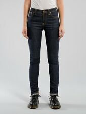 Nudie High Kai Organic Twill Navy High Rise Skinny Jeans, Size 25