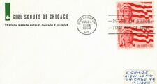 Girl Scouts 1962 FDC Sc 1199: Chicago Council  62FD-84  #K102