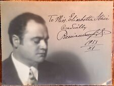 BENIAMINO GIGLI -  THE GREAT ITALIAN TENOR OPERA SINGER 1933 AUTOGRAPHED PHOTO