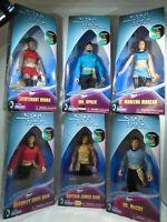"Star Trek Mirror Mirror Spock Kirk McCoy Uhura Moreau Sulu Kay Bee Ltd 9"" Figs"
