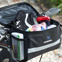 Bike Bicycle Cycling Outdoor Front Basket Pannier Frame Handlebar Bag Pouch UK
