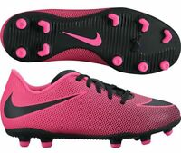 new Girls Youth NIKE JR BRAVATA II FG kids 3 or 6 Pink Black Soccer Cleats Shoes