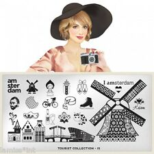 MoYou London TOURIST 15 Collection Stamping Schablone Amsterdam