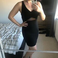 NEW WAREHOUSE Black Mesh Party Dress