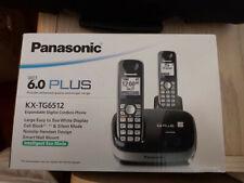 Panasonic KX TG6512 Black 1.9 GHz Dual Handsets Single Line Cordless Phone - NIB