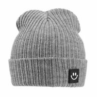 Cute Baby Children Winter Warm Kids Knitted Hat Smile Face Cap Beanie Hats Gift