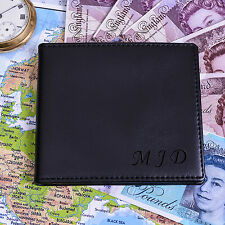 Man's PERSONALISED Initials wallet Faux leather wallet - Birthday Dad Wallet