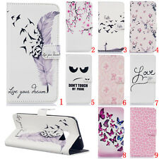 Magnetic Flip stand Card Leather wallet + TPU Case Cover For various models