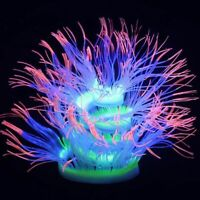 Fish Tank Ornaments Glowing Coral Artificial Silicone Sea Anemone Aquarium Decor