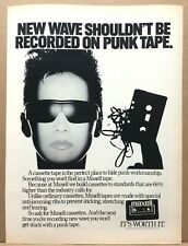 Vintage 1983 Maxell Cassette Ad New Wave Shouldn't Be Recorded On Punk Tape