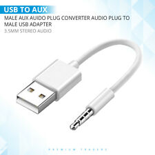 USB 2.0 to 3.5mm Audio Aux Plug Headphone Jack Cable Male to Male Cord Lead Wire