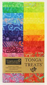 JUNIOR JELLY ROLL STRIP : TONGA TREATS - timeless treasures fabrics - bali batik