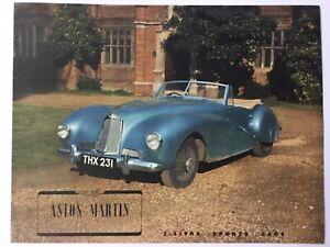 Aston Martin 2 litre sport 1948 brochure