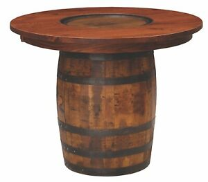 Custom US Hand Made | Whiskey Barrel Pub Table | Made to Order!