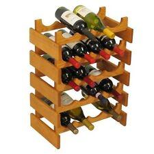 Wooden Mallet 20-Bottle Dakota Wine Rack  Medium Oak NEW