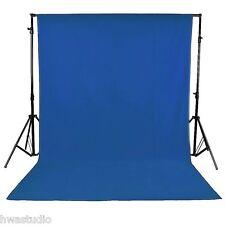 Telón de fondo fotografía Azul 1.8 M x 2.7 M/6 ft (approx. 1.83 m) X 9 ft (approx. 2.74 m) 100% de fondo de muselina de algodón