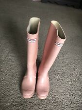 Women's Pink Hunter Rain boots Size 6 Tall
