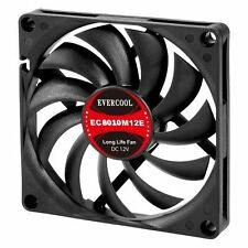 Evercool 80 x 80 x 10mm 3 pin 12v Long life Cooling Fan