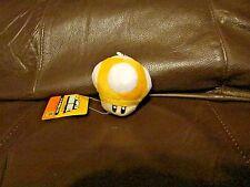 Mario Bros. Yellow Mushroom Keychain  2 Inches  (NEW)