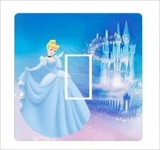 Cinderella and Disney castle - Light Switch Sticker vinyl cover skin decal