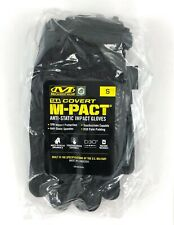 Mechanix Wear Covert M-PACT Gloves, Black, SMALL, TAA, Touch Screen Capable