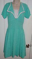 Dance Costume Dress Art Stone Lyrical Ballet Sea Foam Green Sparkle Sz Med M KH