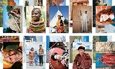 Faces and Places multicultural posters A4 size