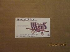 NPSL Wichita Wings Vintage Defunct Logo Soccer Business Card