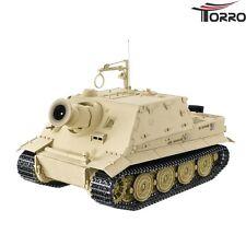 TORRO RC Panzer Tank Sturmtiger mit Metallunterwanne BB Wüstentarn 2.4GHz