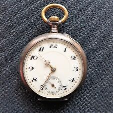 Solid Ladies Pocket Watch, Ankerhemmung, Silver Case (0,800), Approx. 1920