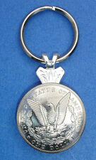 Western Cowboy Jewelry Bright Eagle Silver Dollar Concho Key Ring Kit