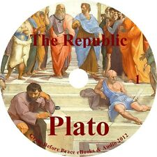 The Republic, by Plato Politics Philosophy Audiobook on 1 MP3 CD Free Shipping