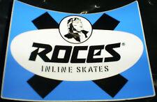 Vintage retro blue Roces aggressive recreation inline skate stickers & decals
