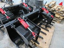 New 72 inch heavy Duty skid steer root grapple bucket Case Bobcat Caterpillar