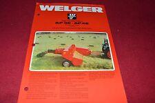 Welger AP38 AP48 Baler Dealer's Brochure LCOH