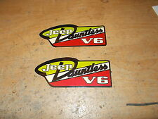 1966 1967 1968 1969 1970 JEEP DAUNTLESS V6 ENGINE VALVE COVER DECALS NEW PAIR 2x