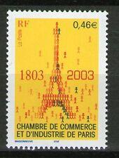 TIMBRE 3545 NEUF XX LUXE - LA TOUR EIFFEL - 200 ANS DE LA C.C.I.DE PARIS