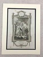 1791 Stampa Battle Di Agincourt King Henry V 100 Anni Guerra Antico Incisione