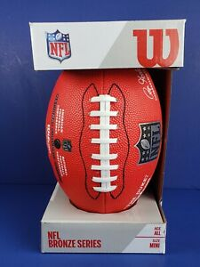 Wilson MINI NFL Replica Game Ball, Red NEW Bronze Series T2 FREE SHIPPING