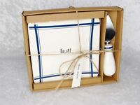 Rae Dunn Cheese Board & Spreader Taste White and Blue