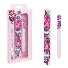 Body Collection Boutique Nail File Gift Set - Cushion Emery Board & Glass File