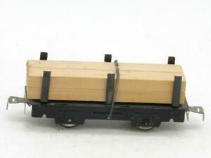 "Marx 6"" Lumber Load Flat Car with Rivet Tab Couplers 563"