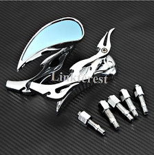 Teardrop Flame Motorcycle Rearview Mirrors For Harley Davidson XL Sportster 1200