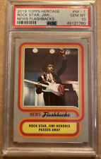2019 Topps Heritage News Flashbacks #NF-1 Jimi Hendrix Passes Away PSA GEM MT 10