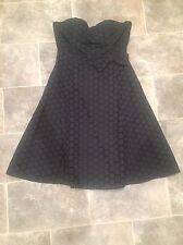 Black Circle And Bow Design Strapless Dress From Bay Trading