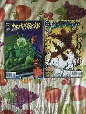 Deathstroke #53 + #54 1995 The Borgia Plague Part 1-2 DC Comic Book Lot VF Cond